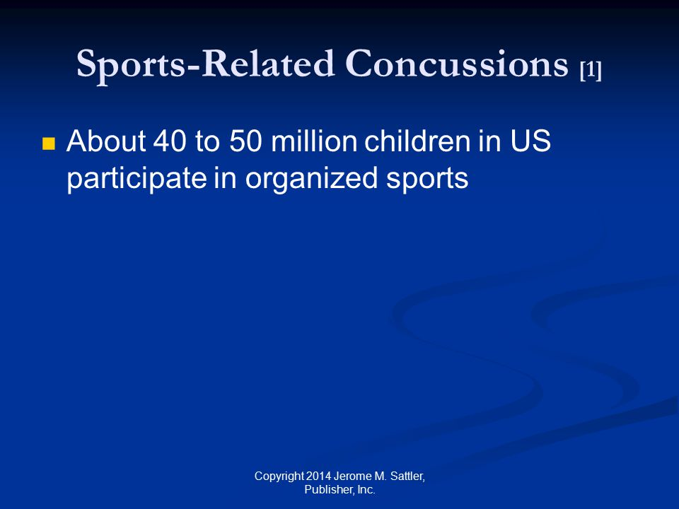 Sports-Related Concussions [1]